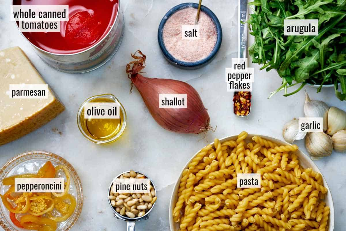 Ingredients for pasta.