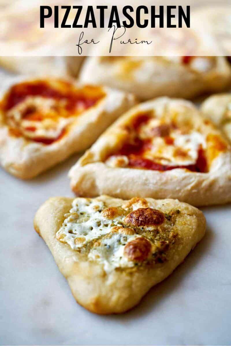 Triangular mini pizza.