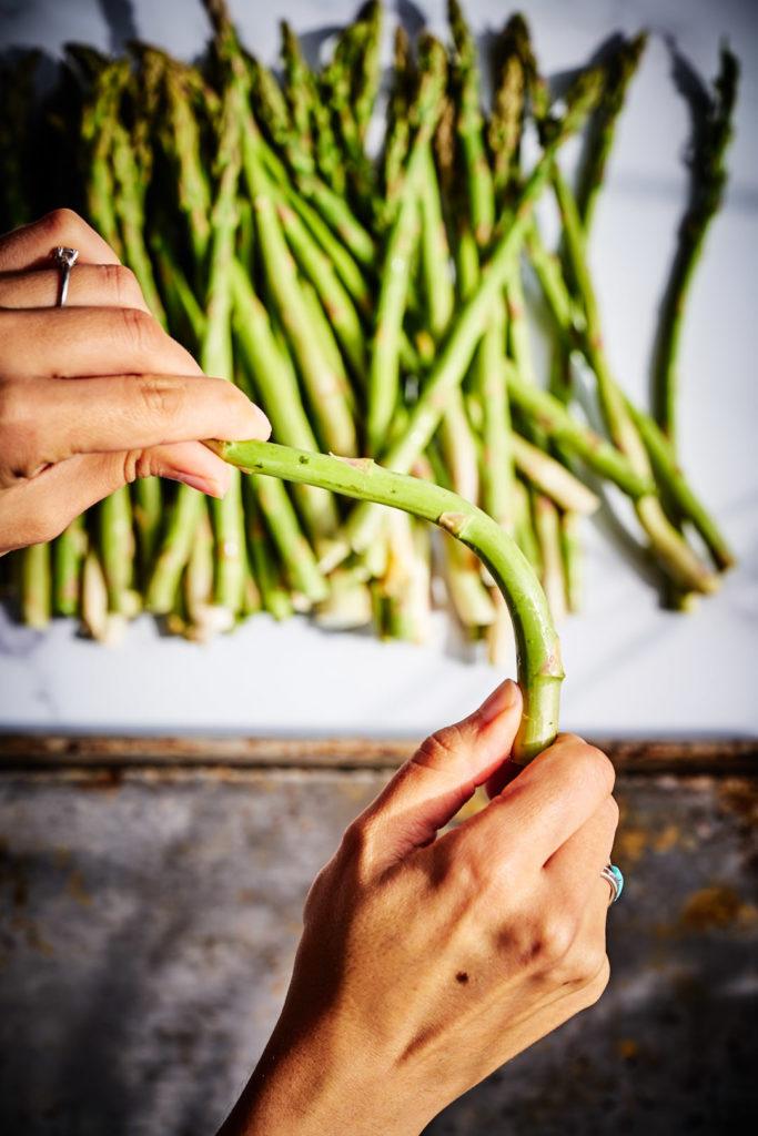 Trimming Asparagus.
