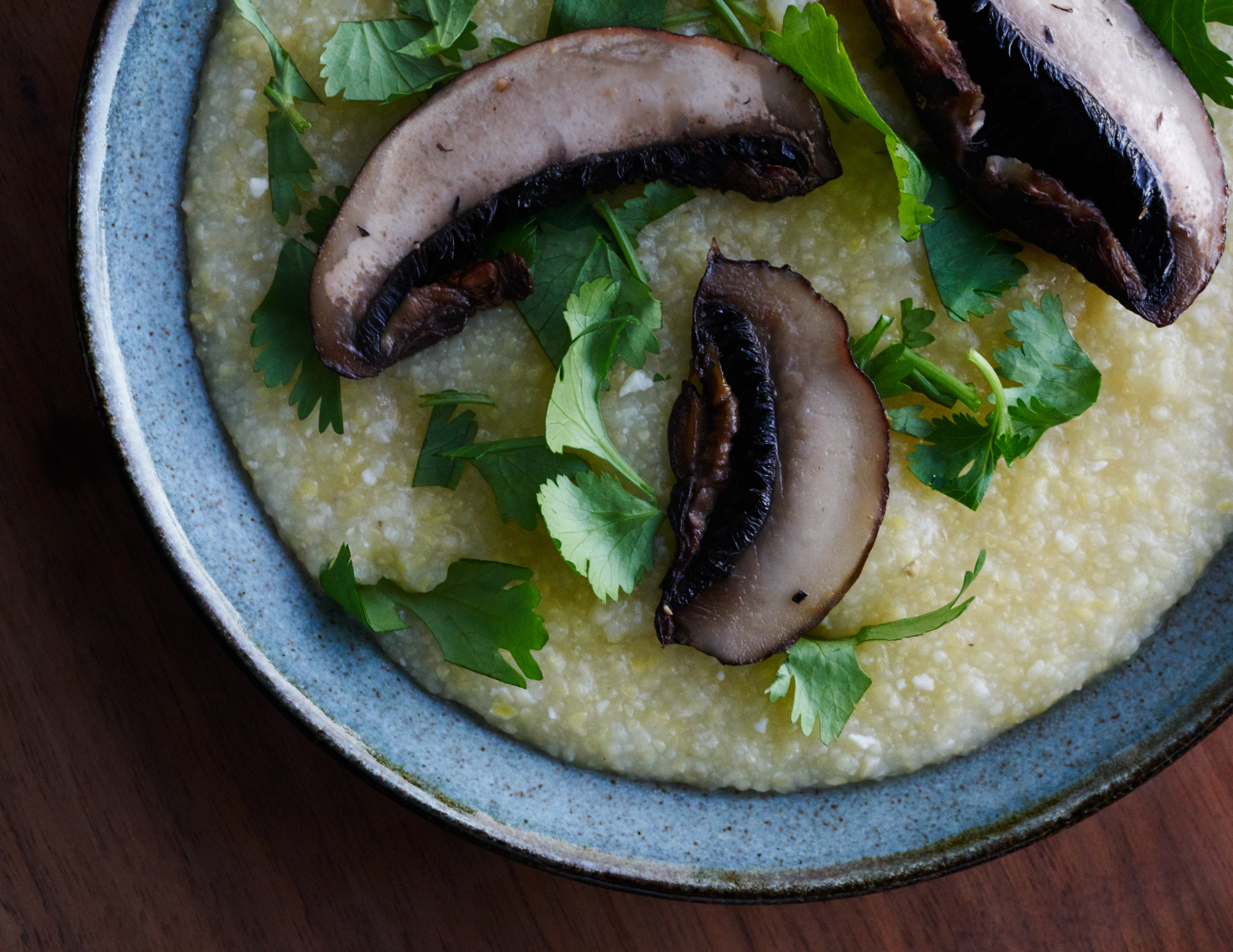 Dairy-Free Polenta with Simple Sautéed Mushrooms | Proportional Plate