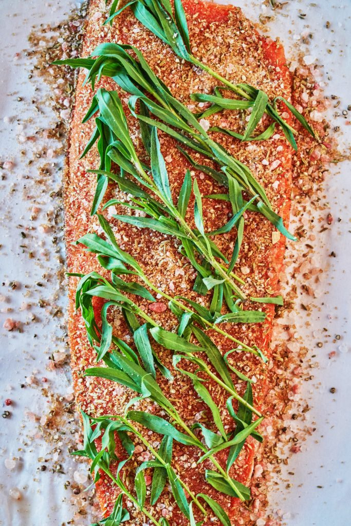 Tarragon & Fennel Scotch Cured Salmon - How to Cure Salmon | Proportional Plate