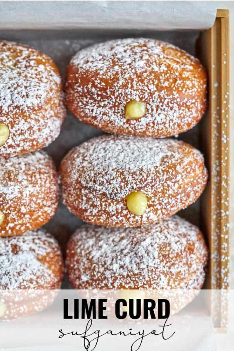 Rows of filled donuts.