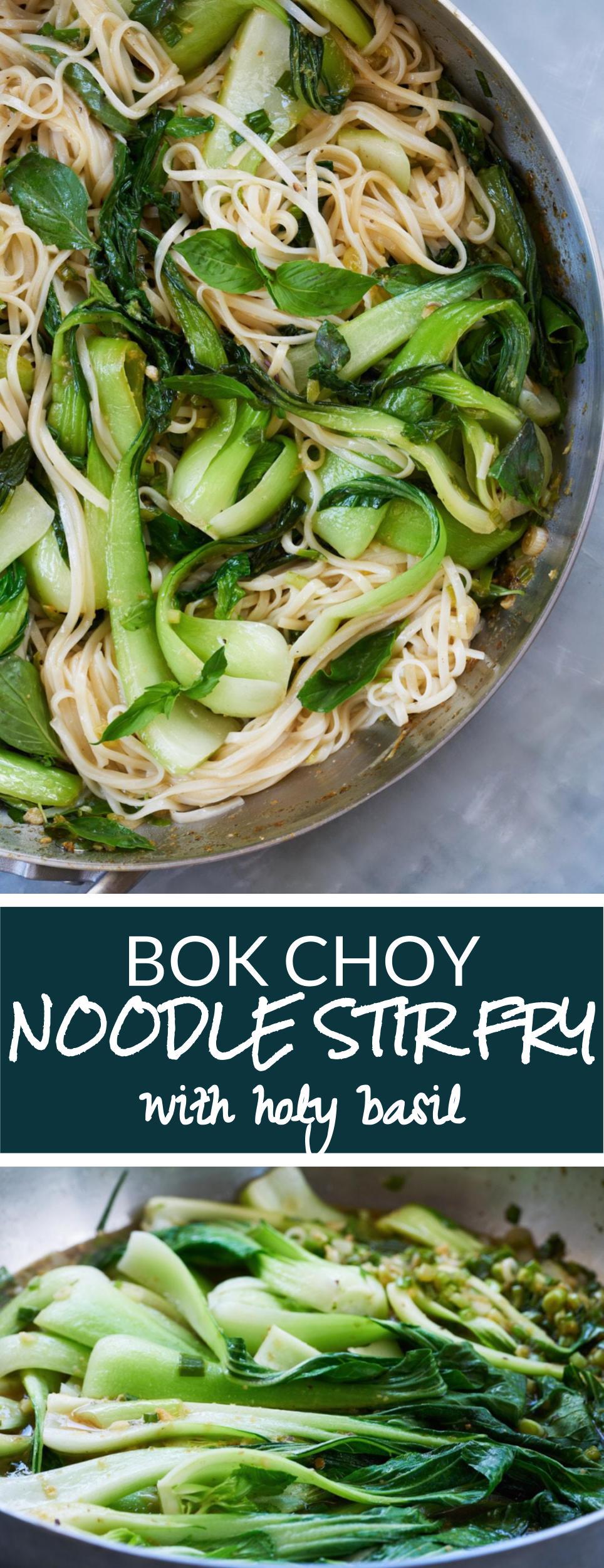 Bok Choy Noodle Stir Fry & Holy Basil   Proportional Plate