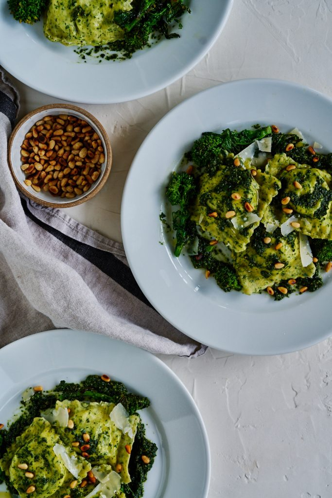 Broccoli Rabe Ravioli | Proportional Plate And it's a wonderful way to make ravioli healthy.