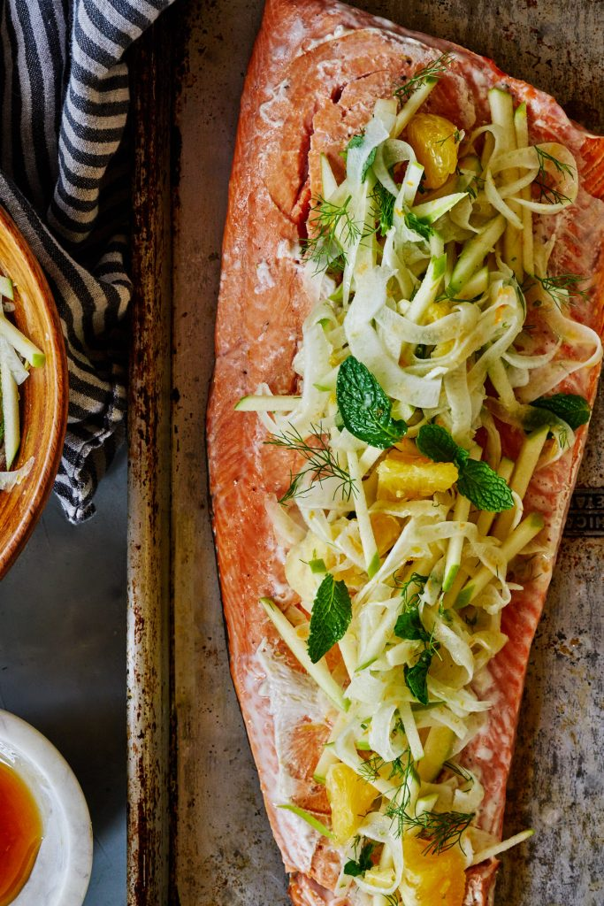 Citrus Salmon with Fennel, Citrus, & Mint Slaw | Proportional Plate