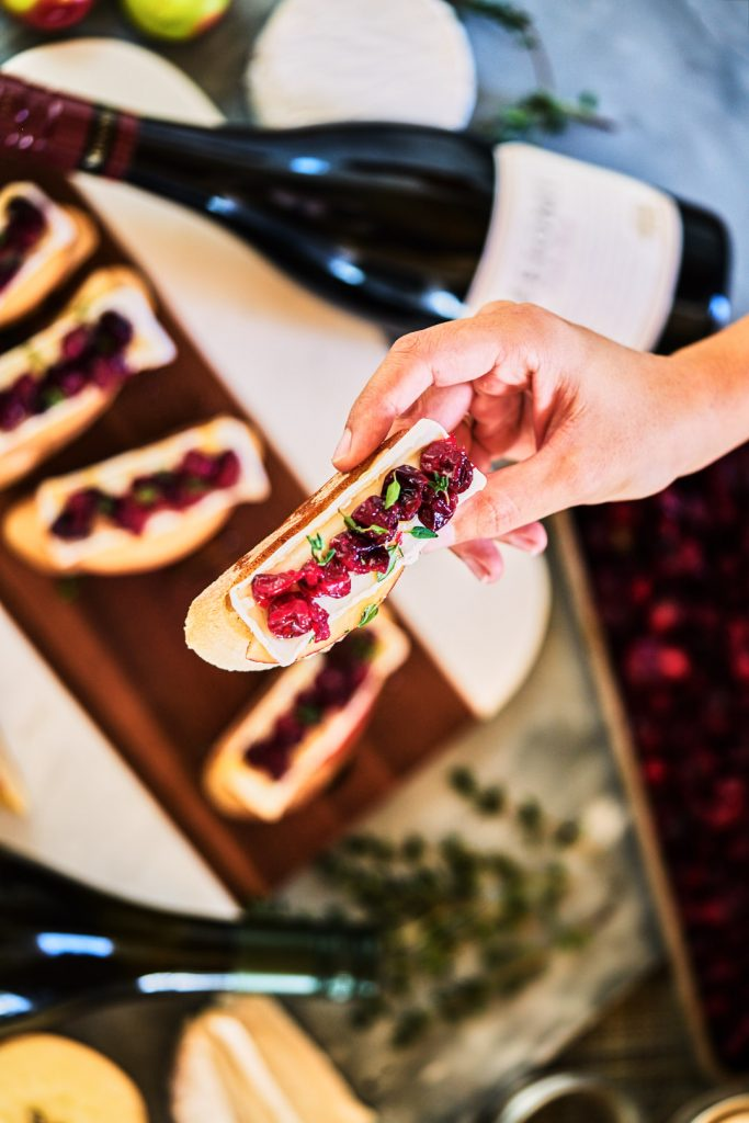 Cranberry, Thyme, Brie, & Apple Crostini & My Favorite Wine Pairing Trick | Proportional Plate