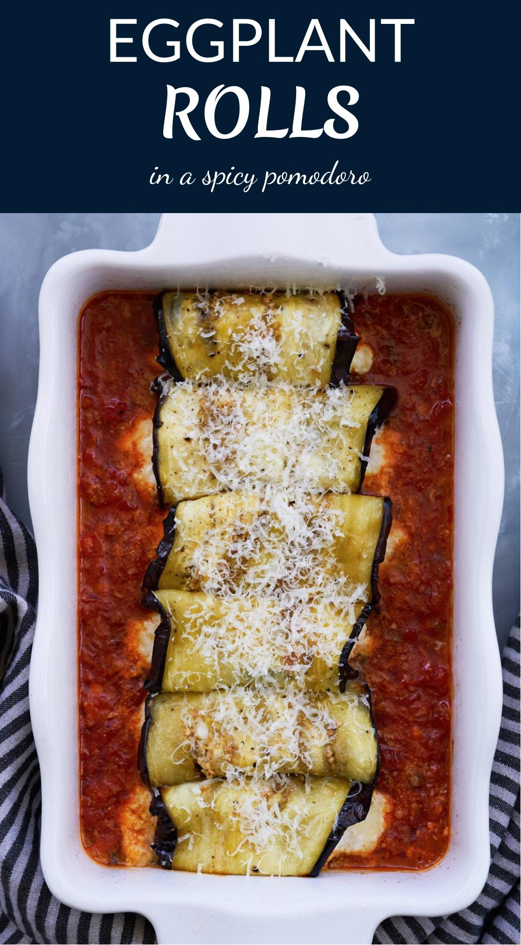 Eggplant Rolls in a Spicy Pomodoro Sauce | Proportional Plate
