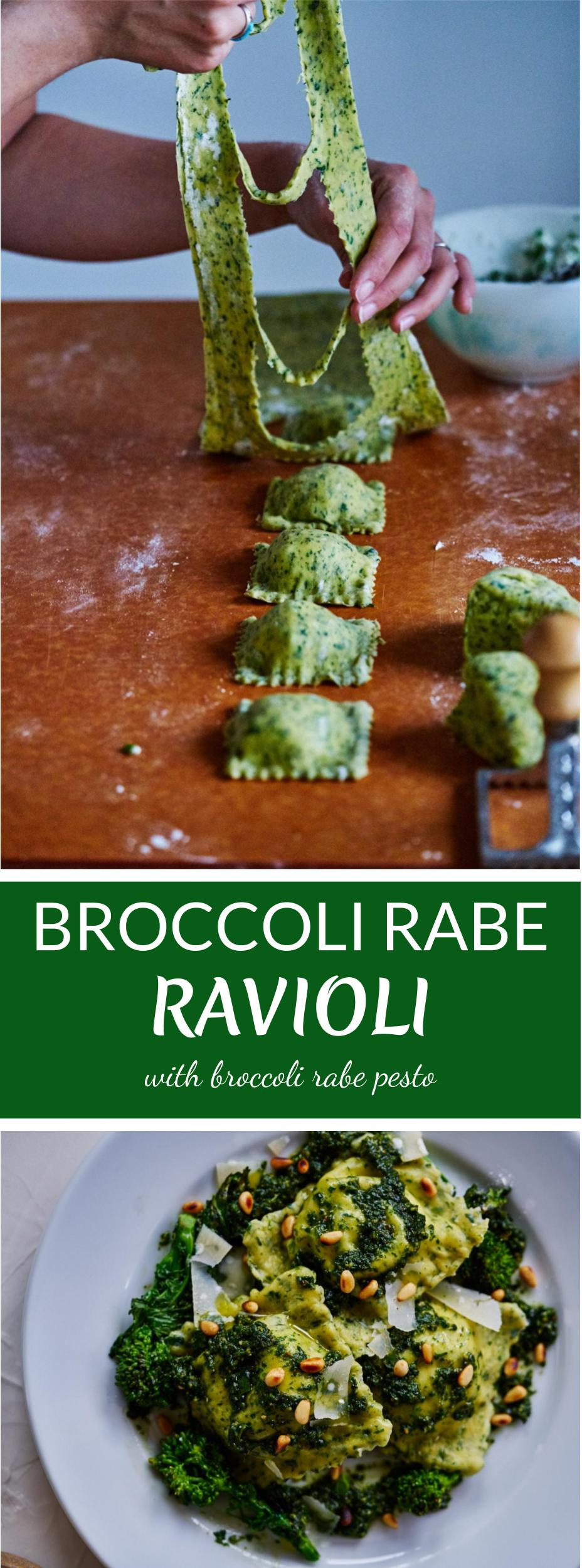 Broccoli Rabe Ravioli | Proportional Plate A wonderful way to make ravioli healthy.