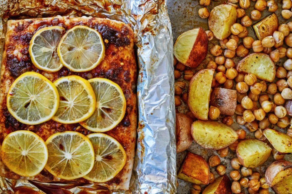 Paprika Fish with Chickpeas & Potatoes | Proportional Plate