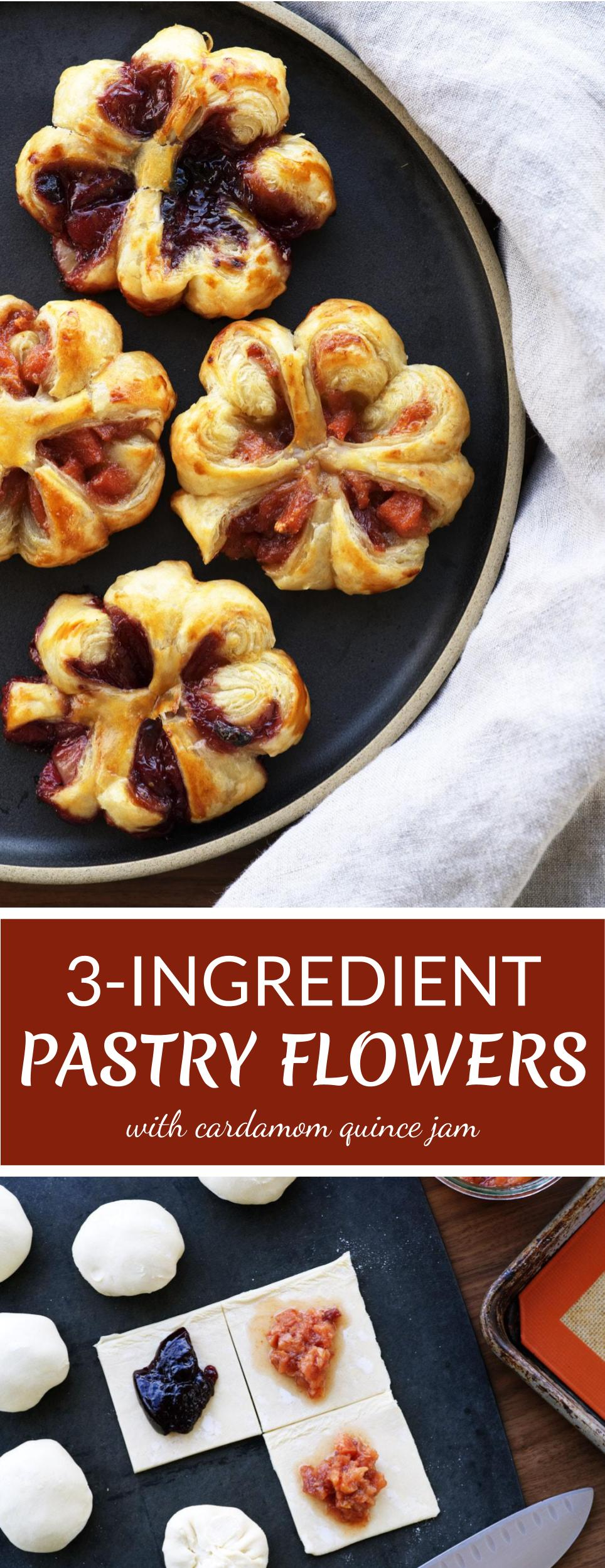 3-Ingredient Puff Pastry Flowers | Proportional Plate
