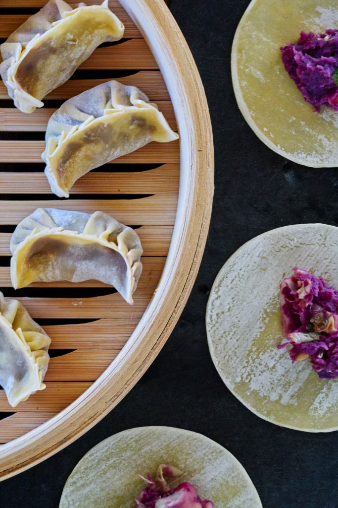 Purple Sweet Potato & Cabbage Dumplings | Proportional Plate