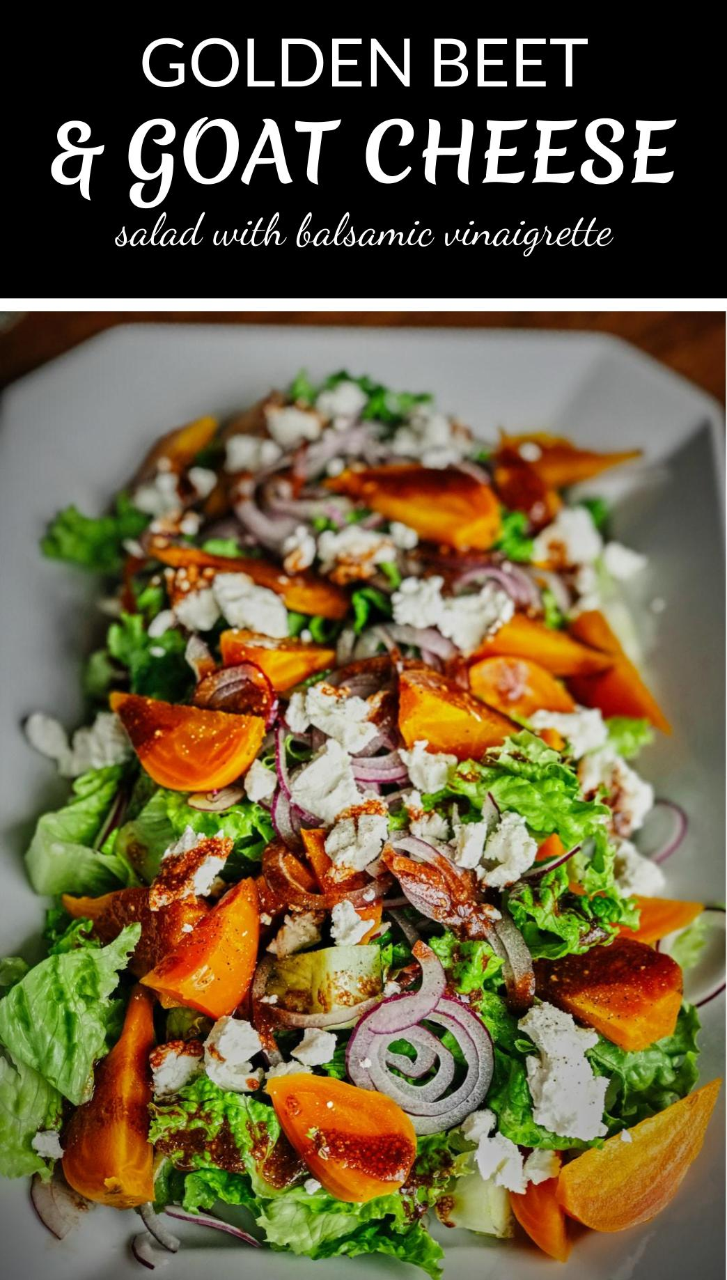 Golden Beet & Goat Cheese Salad | Proportional Plate