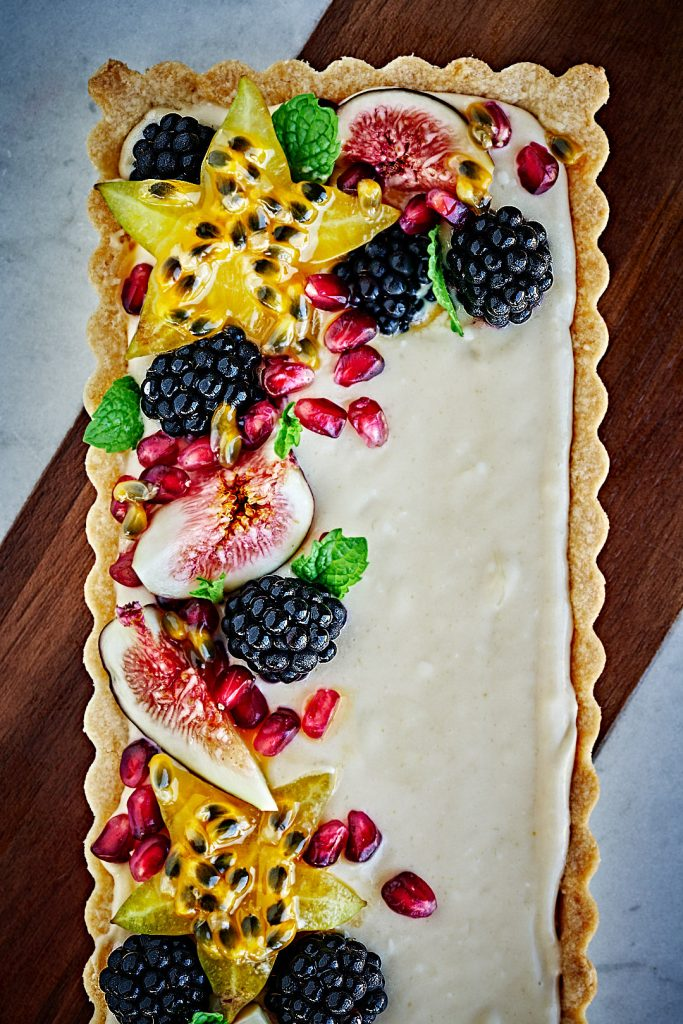 Lime Curd & Mascarpone Fruit Tart | Proportional Plate