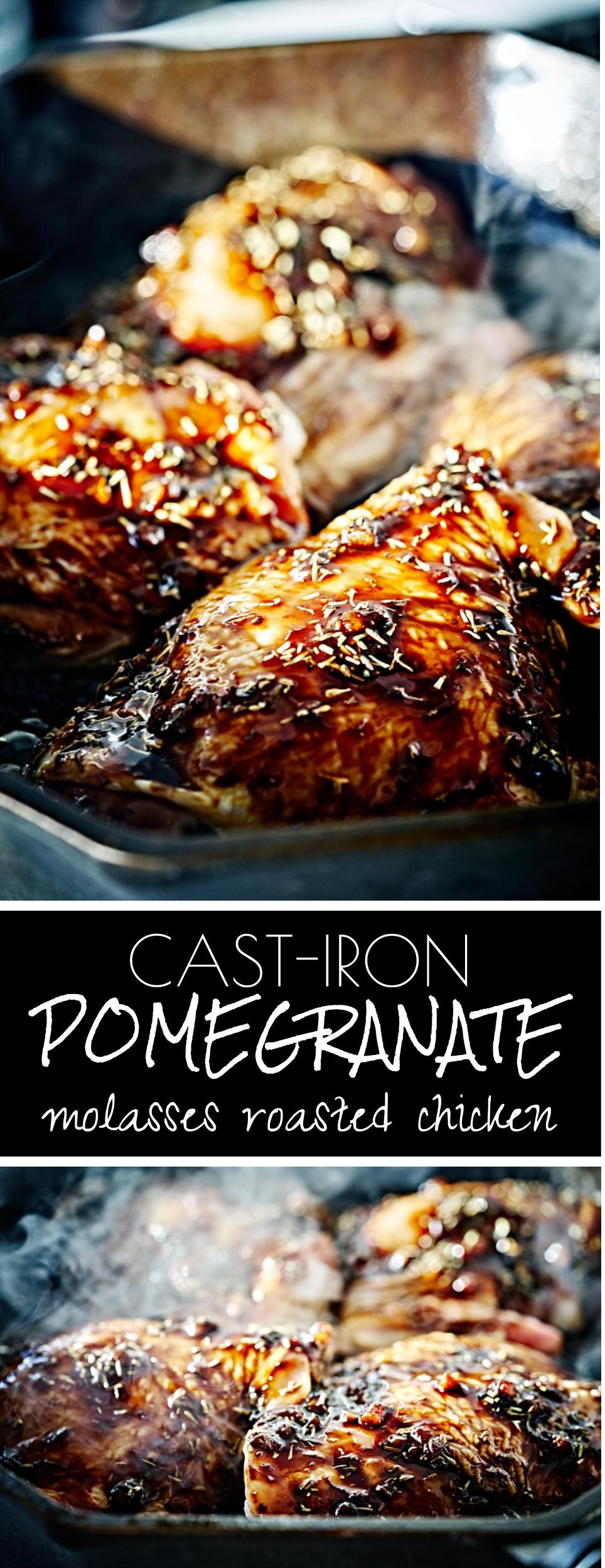 Cast-Iron Pomegranate Molasses Roasted Chicken | Proportional Plate | Why cook chicken in a cast iron?