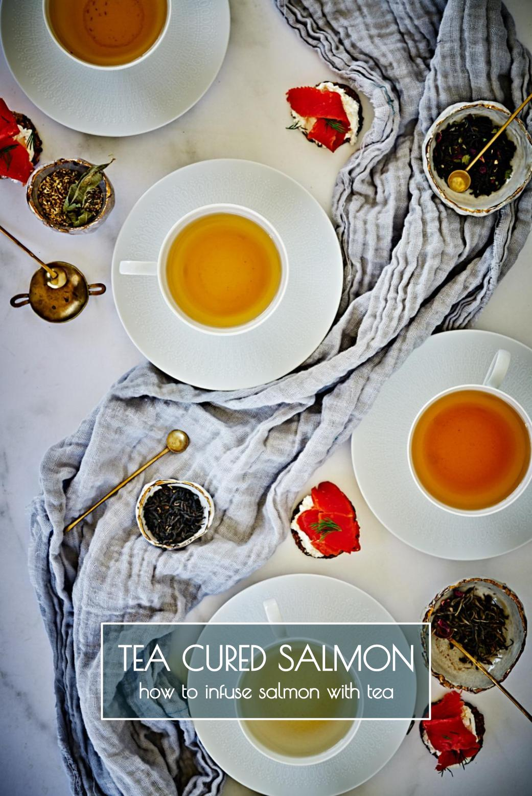Tea Cured Salmon - How to infuse salmon with tea flavors | Step by step instructions included...