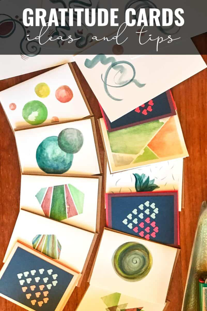 Cards fanned on a table.