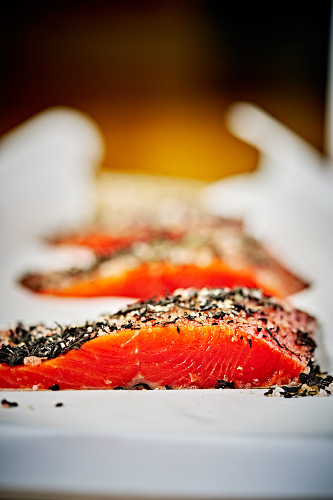 Tea Cured Salmon - How to infuse salmon with tea flavors | Proportional Plate