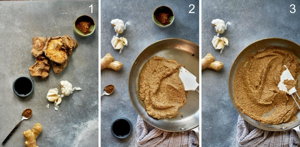 Step by step vegan oyster sauce.
