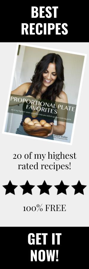 Proportional Plate FREE Recipe eBook
