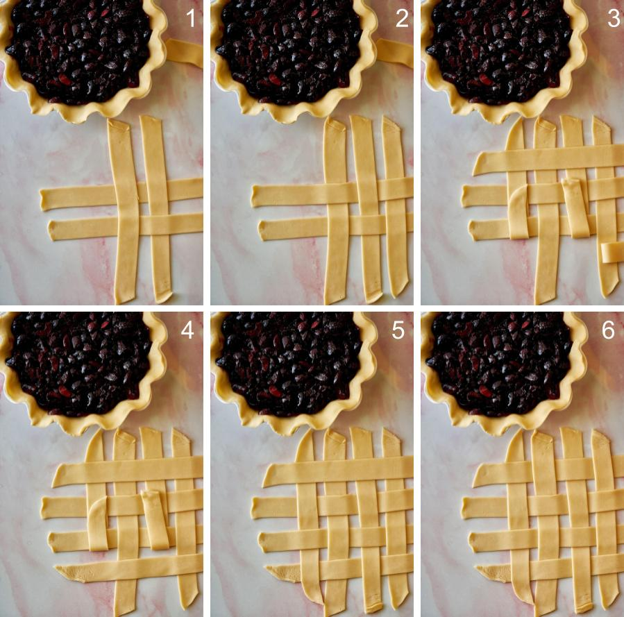 Step by step lattice pie crust.