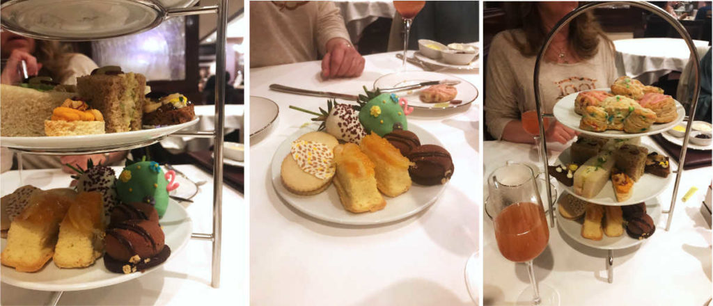 High tea cookies and sandwiches at the Disneyland Resort.