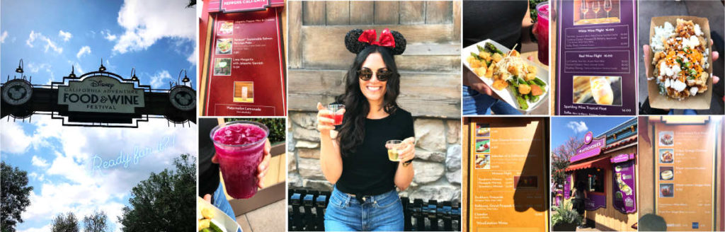 Food and Wine festival photos at Disneyland.