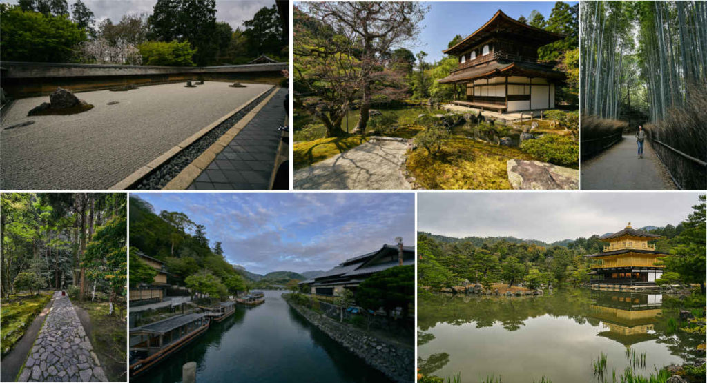 Kyoto places and temples to see.