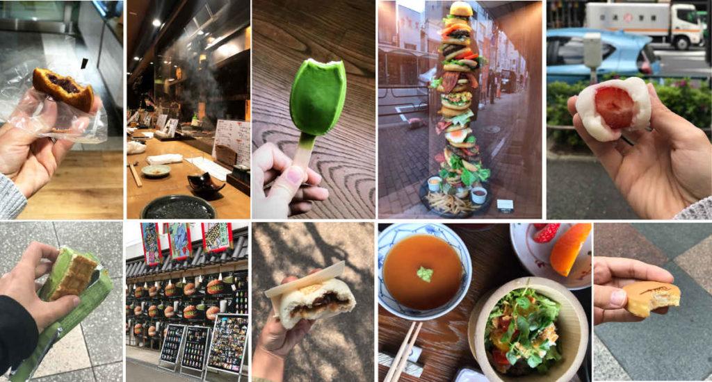 Street food in Japan.