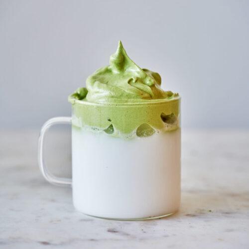 Dalgona Matcha Latte Proportional Plate