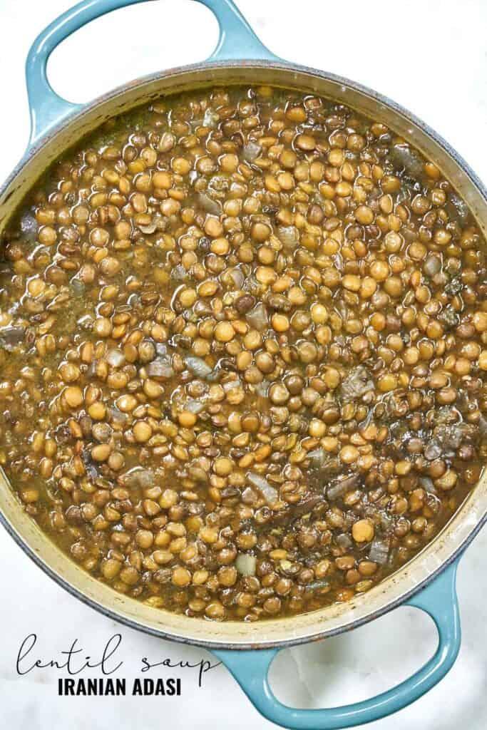 Pot of lentils.