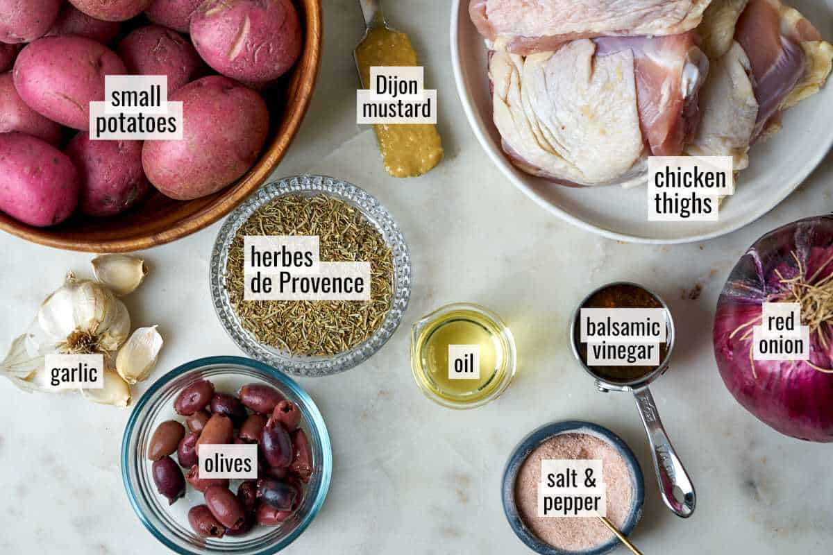 Ingredients for chicken bake.