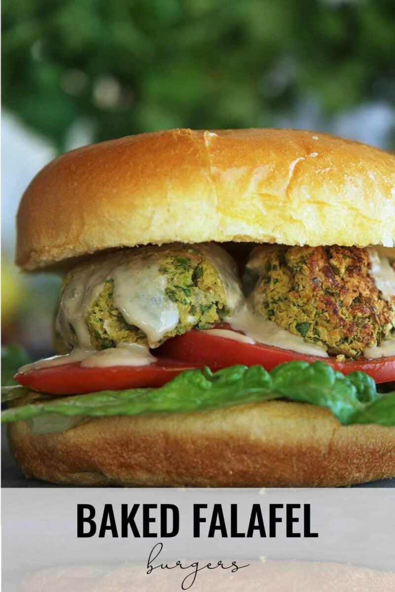 Falafel on a burger.