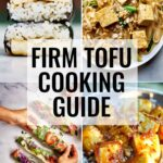 Collage of tofu recipes.