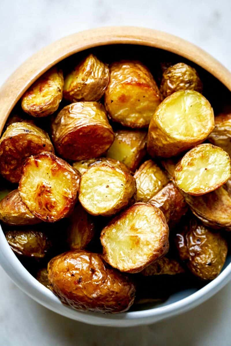 Bowl of roasted potatoes.
