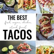 Collage of tacos.
