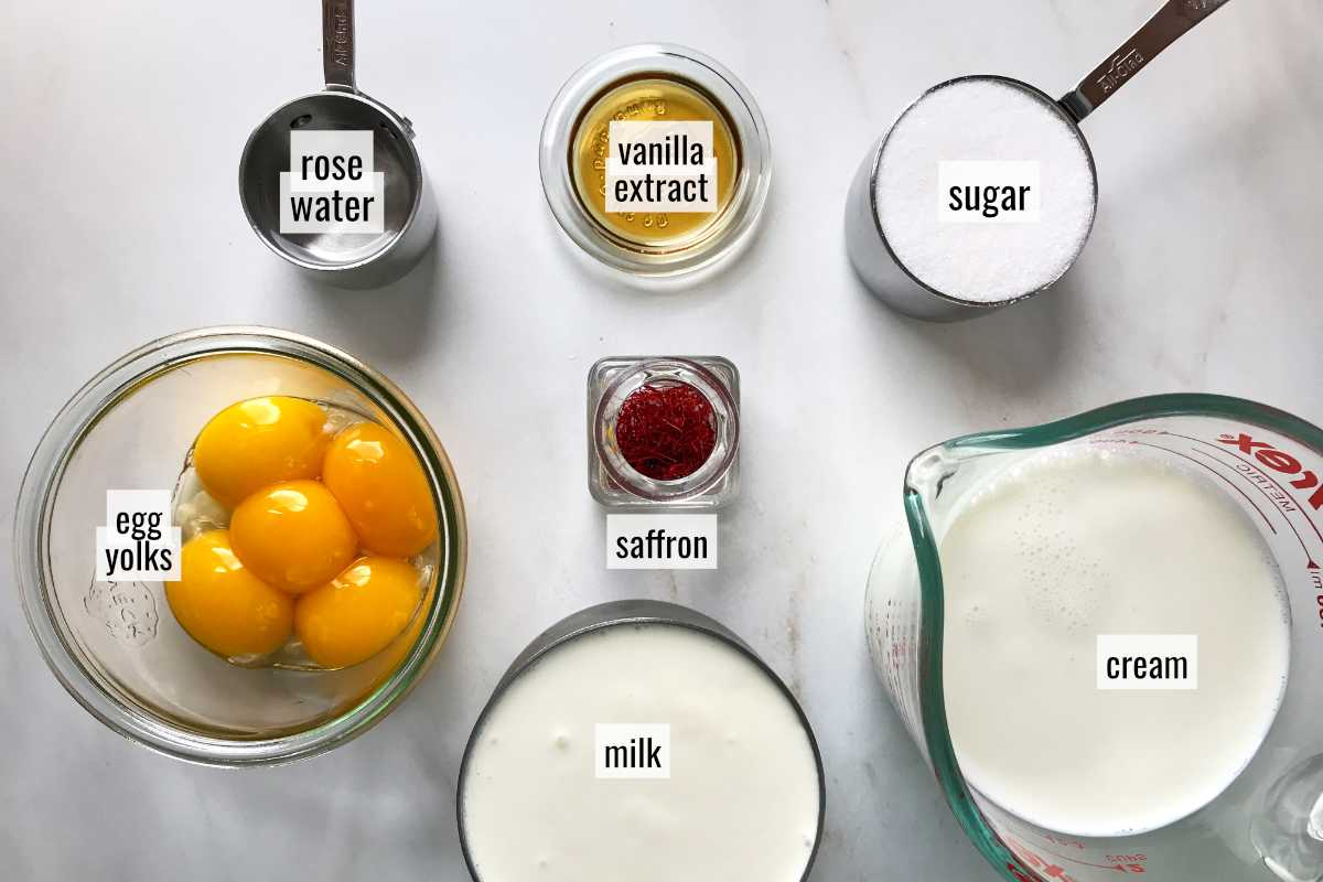 Ingredients on a white countertop.